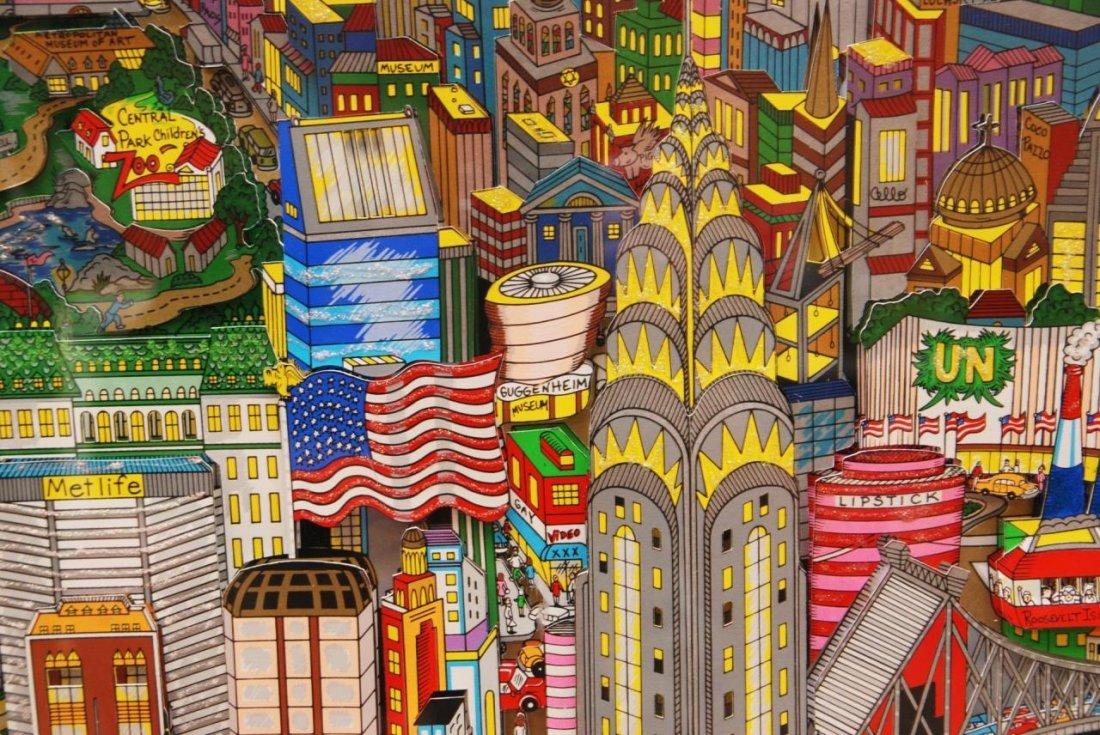 CHARLES FAZZINO NEW YORK MIXED MEDIA 3D WORK - 3