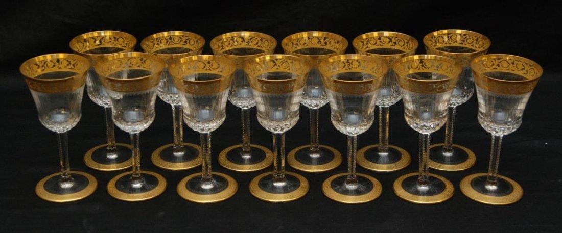 13 ST LOUIS CRYSTAL THISTLE CLARET WINE GLASSES