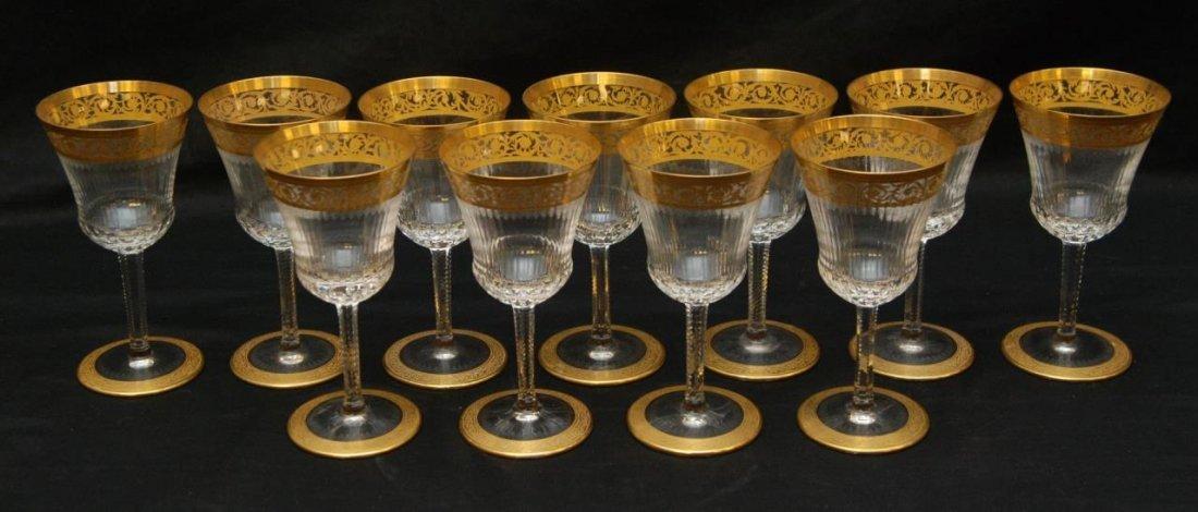 11 ST LOUIS CRYSTAL THISTLE BURGUNDY WINE GLASSES