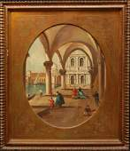 19th C ZANETTI ITALIAN OIL ON BOARD VENITIAN SCENE