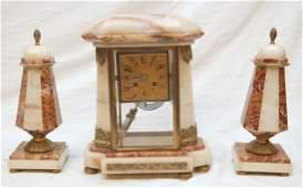 ART DECO COMPTOIR GENERAL SCHNERB CLOCK TAZZA SET
