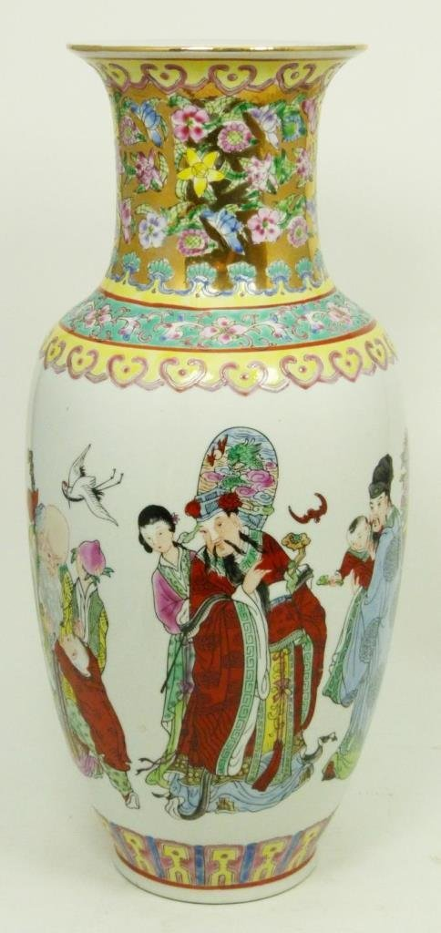 LARGE CHINESE PORCELAIN IMMORTALS VASE