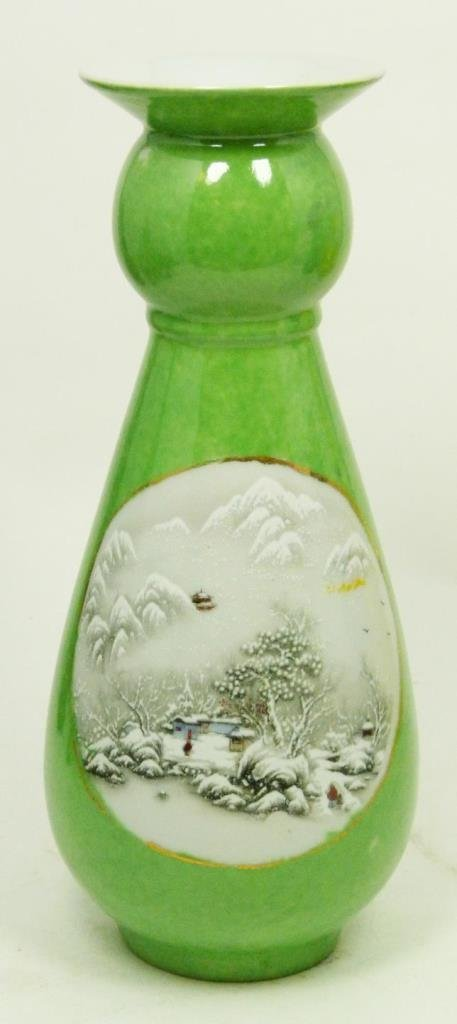 CHINESE PORCELAIN CHING DYNASTY MARKED VASE
