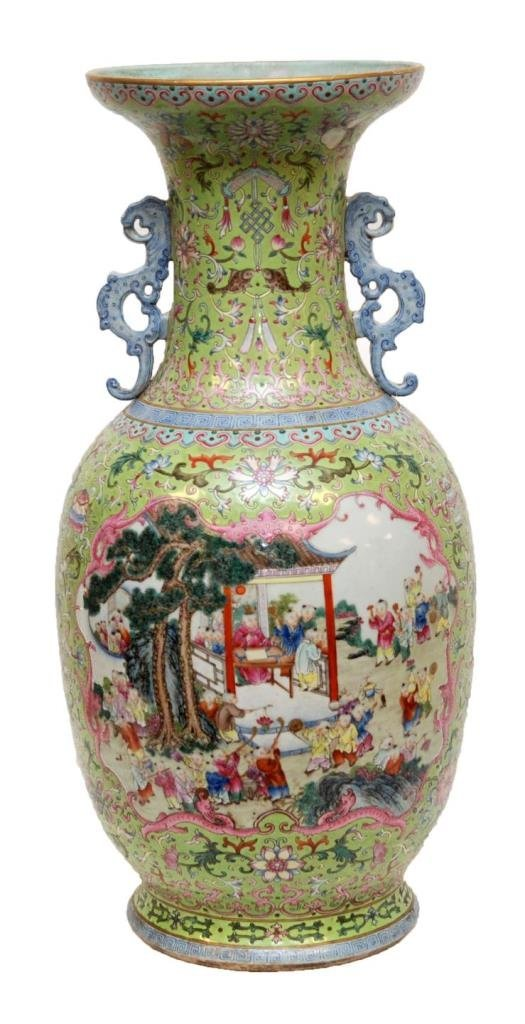 RARE 19th C CHINESE FAMILLE ROSE 100 BOYS VASE