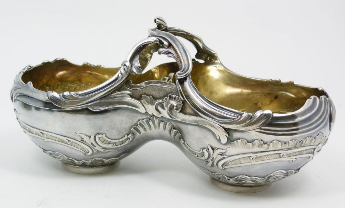 FRENCH 950 STERLING SILVER DIVIDED RADISH BOWL