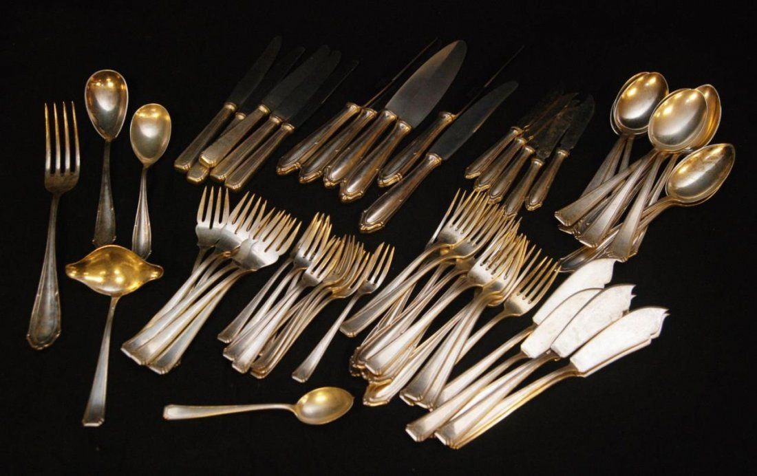 65 WAR ERA POLISH 800 SILVER FLATWARE PIECES