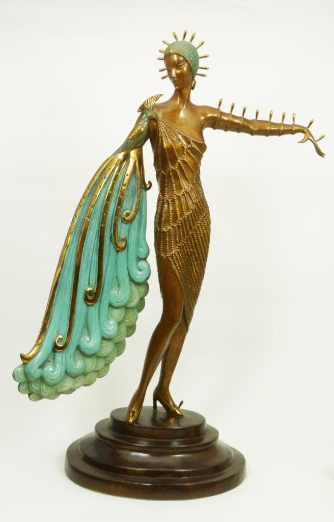 ERTE 'DIVA' COLD PAINTED BRONZE SCULPTURE 18/300