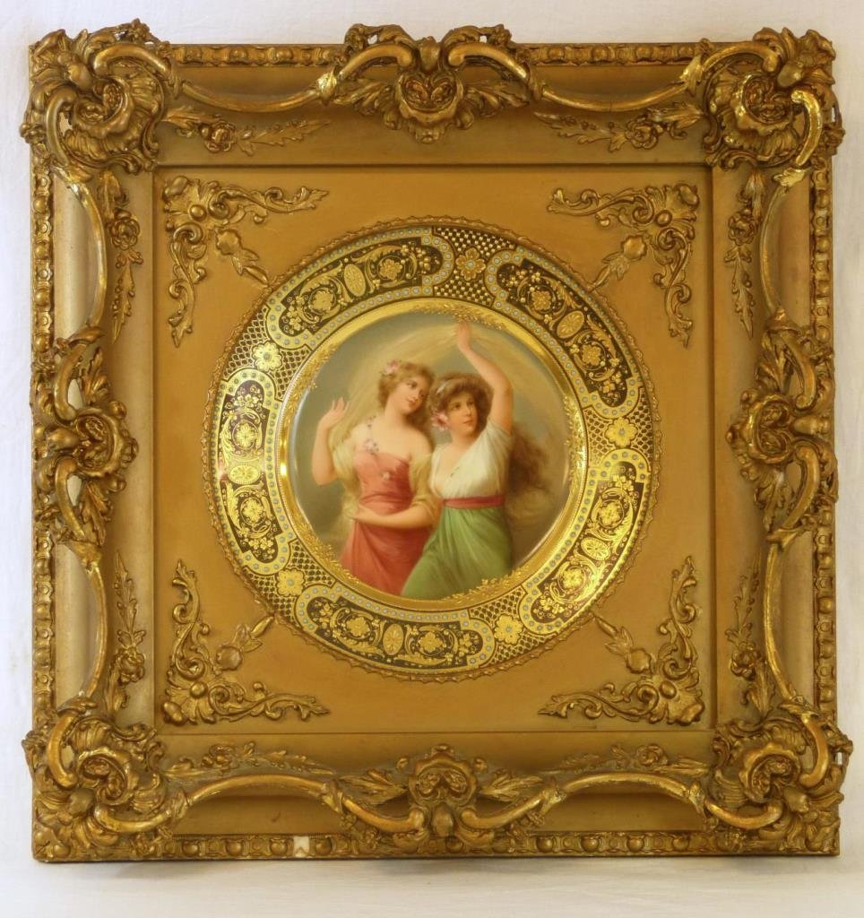 19th C VIENNA STYLE HUTCHENRUETHER PORTRAIT PLATE