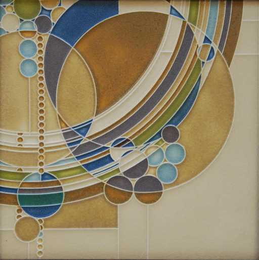Motawi Frank Lloyd Wright March Balloons Tile