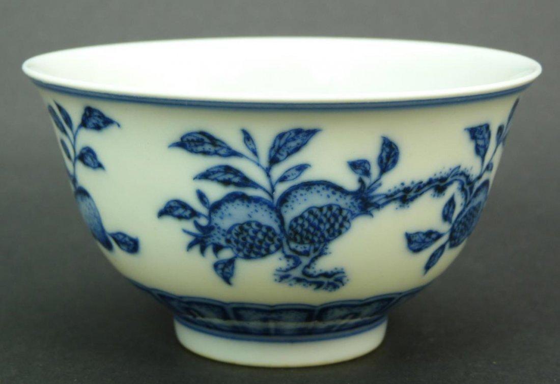 CHINESE QIANLONG BLUE & WHITE PORCELAIN BOWL