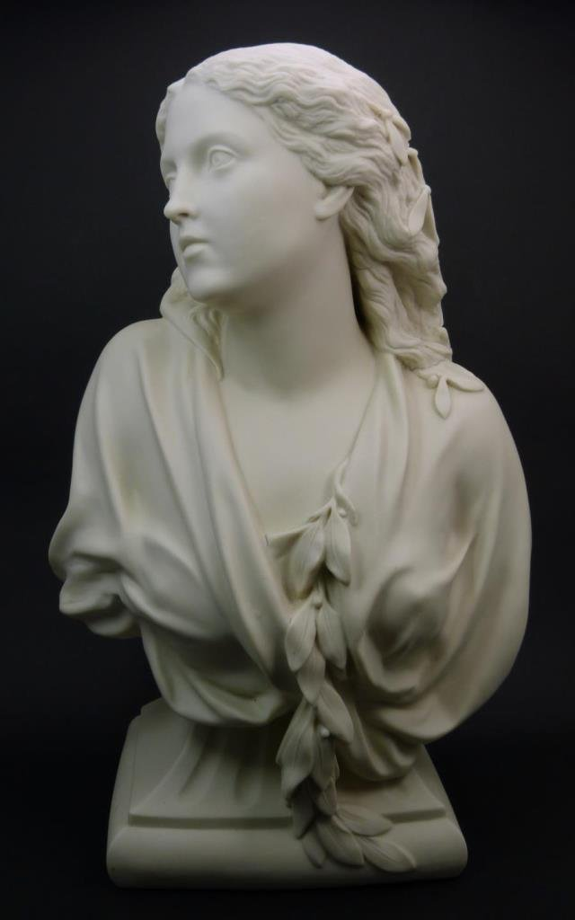 COPELAND PARIAN BUST OF YOUNG WOMAN 1881