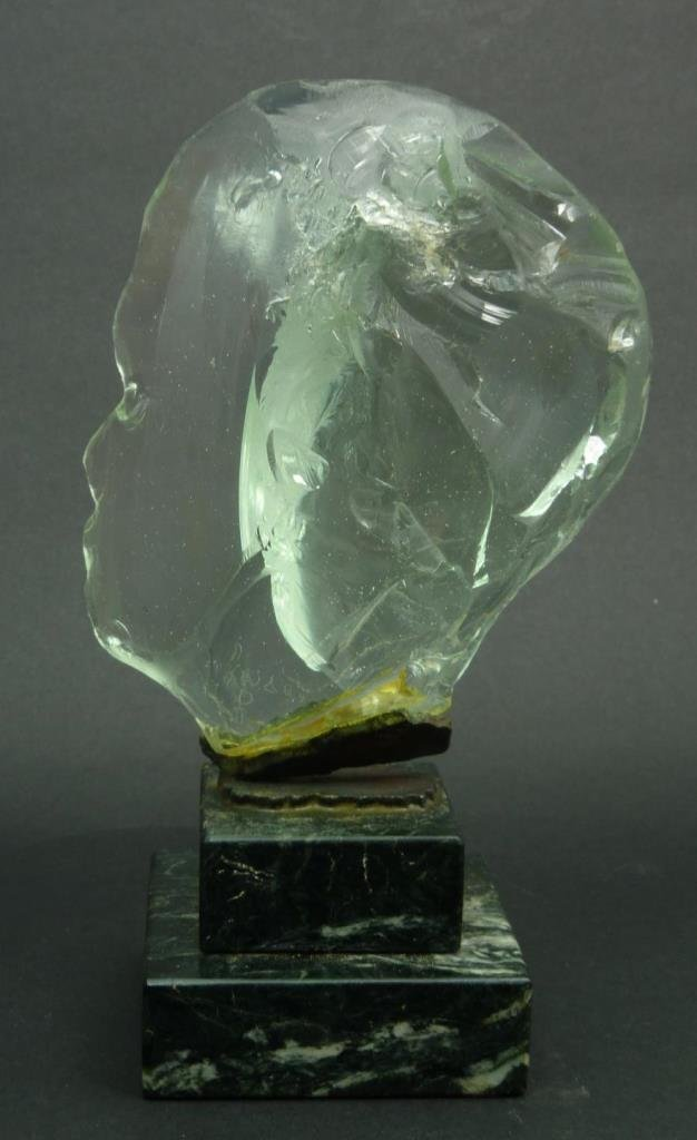 PASCAL GLASS SCULPTURE TITLED 'HEAD OF CHILD'