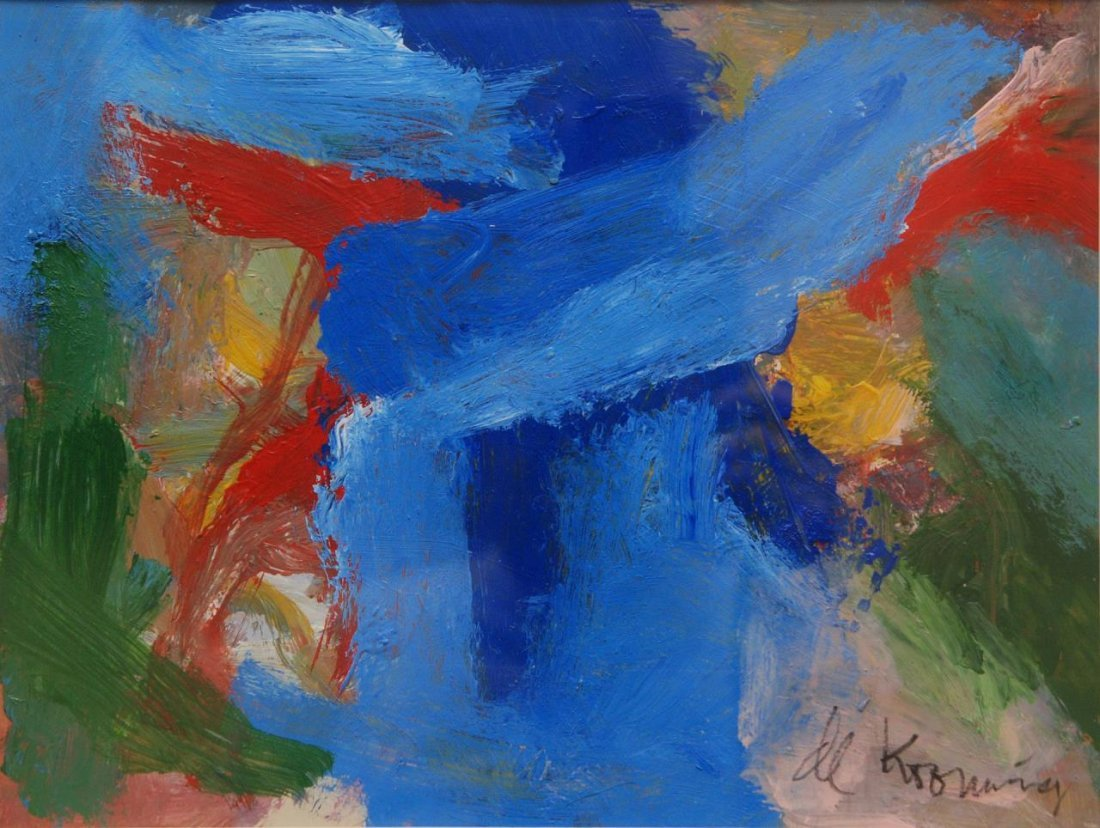 WILLEM DE KOONING 'ABSTRACTION' OIL ON PAPER