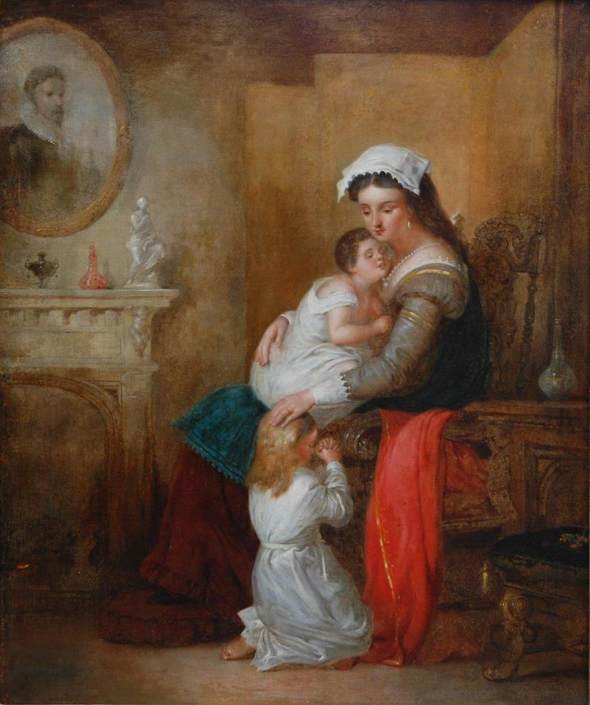 W. P. FRITH OIL ON CANVAS OF MOTHER & CHILDREN