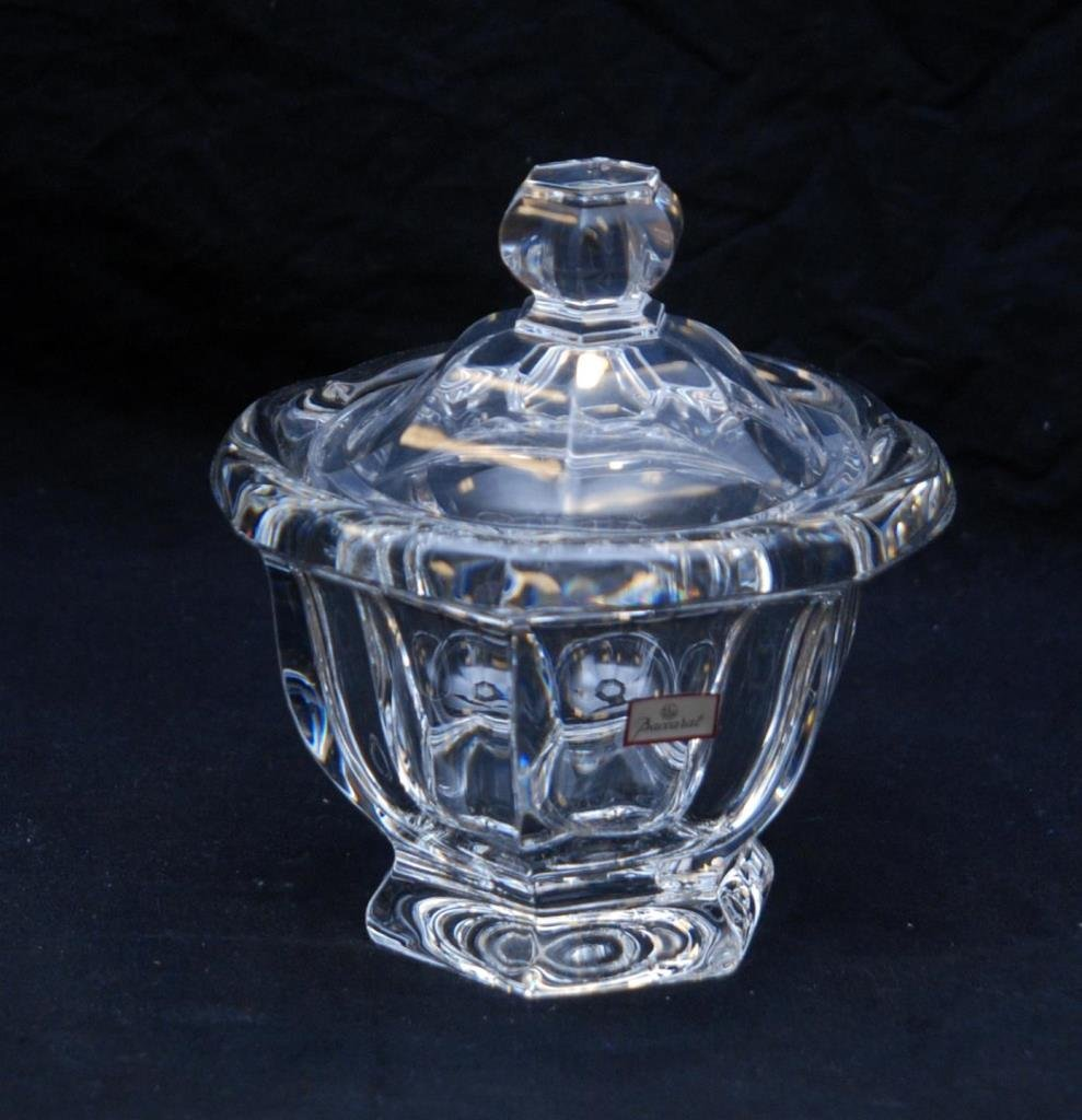 LARGE SIGNED BACCARAT CRYSTAL COVERED CONDIMENT