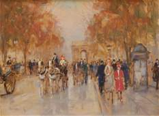 G ANDERS OIL ON CANVAS OF FRENCH STREETS