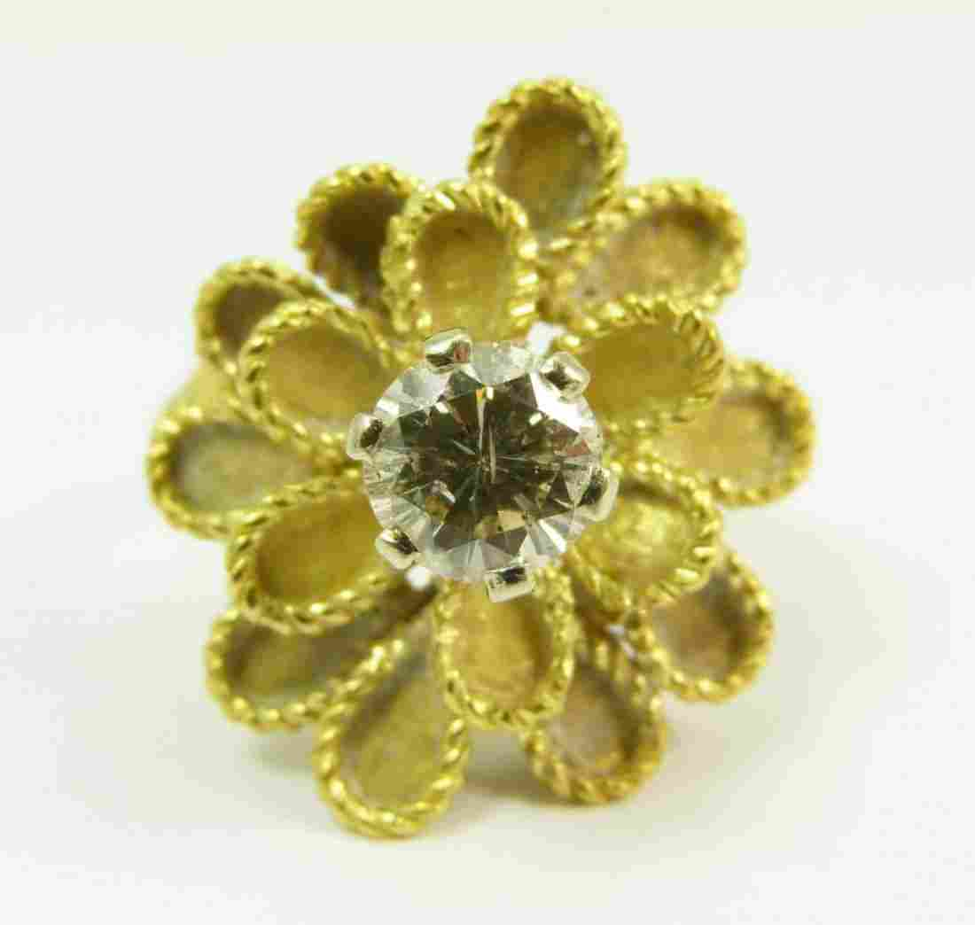 LADIES 18KT YELLOW GOLD DIAMOND RING