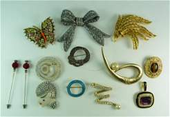 HIGH END VINTAGE COSTUME SIGNED JEWELRY