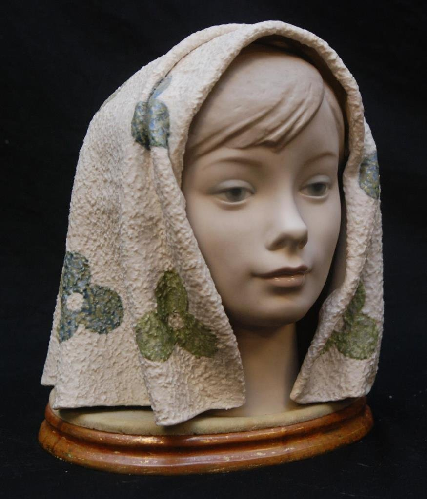 LLADRO GIRL HEAD BUST CABEZA 1003 - 2
