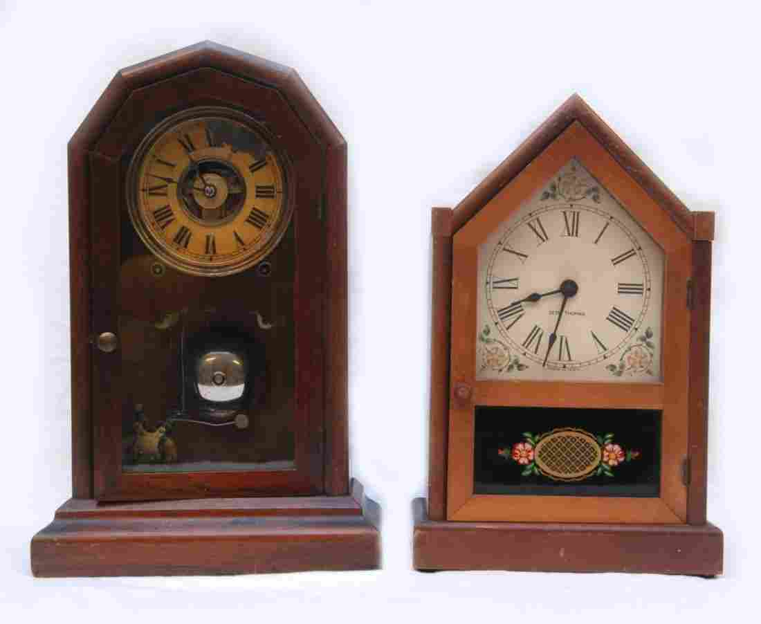 TWO SETH THOMAS VINTAGE MANTLE CLOCKS