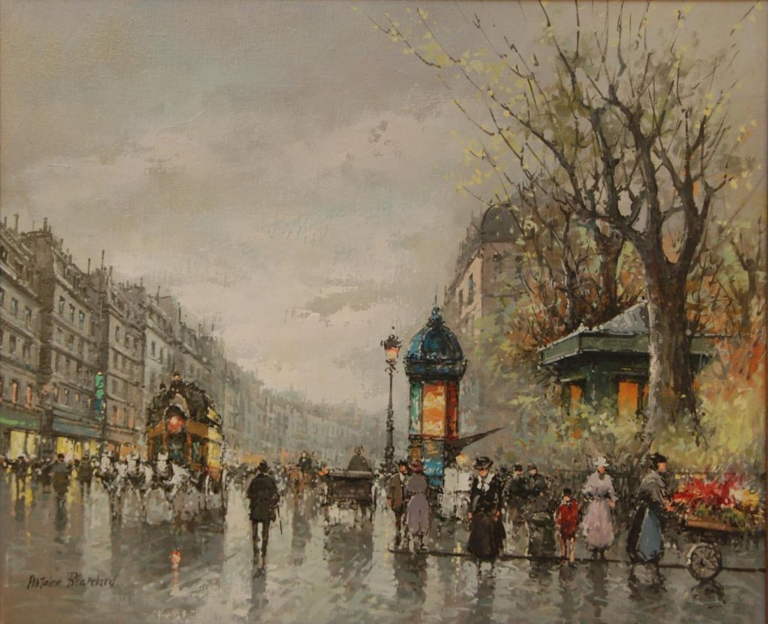 ANTOINE BLANCHARD 1910-1988 L CANVAS OIL PAINTING