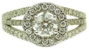VINTAGE 14KT WHITE GOLD & 1CT DIAMOND LADIES RING
