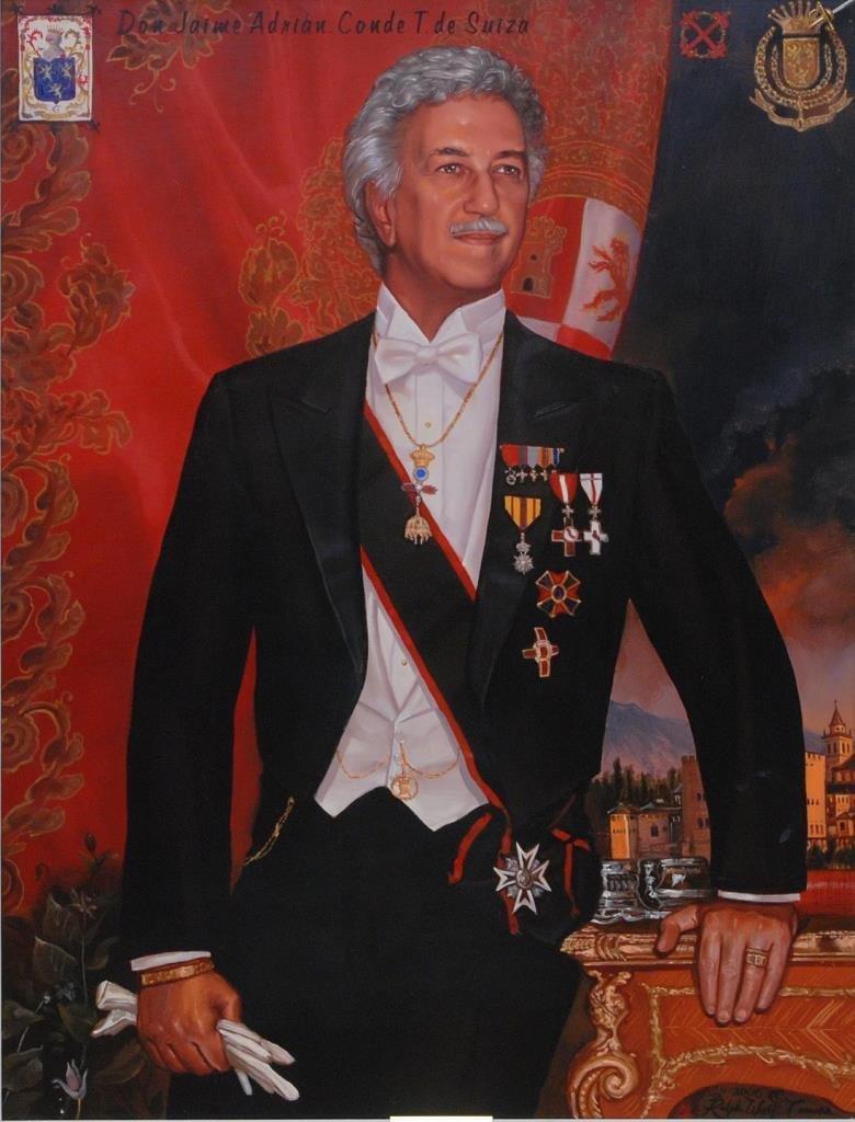 PORTRAIT OF DON JAIME ADRIAN CONDE T DE SUIZA