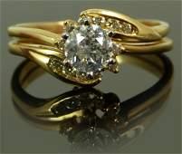 14KT YELLOW GOLD & 1CT DIAMOND ENGAGEMENT RING