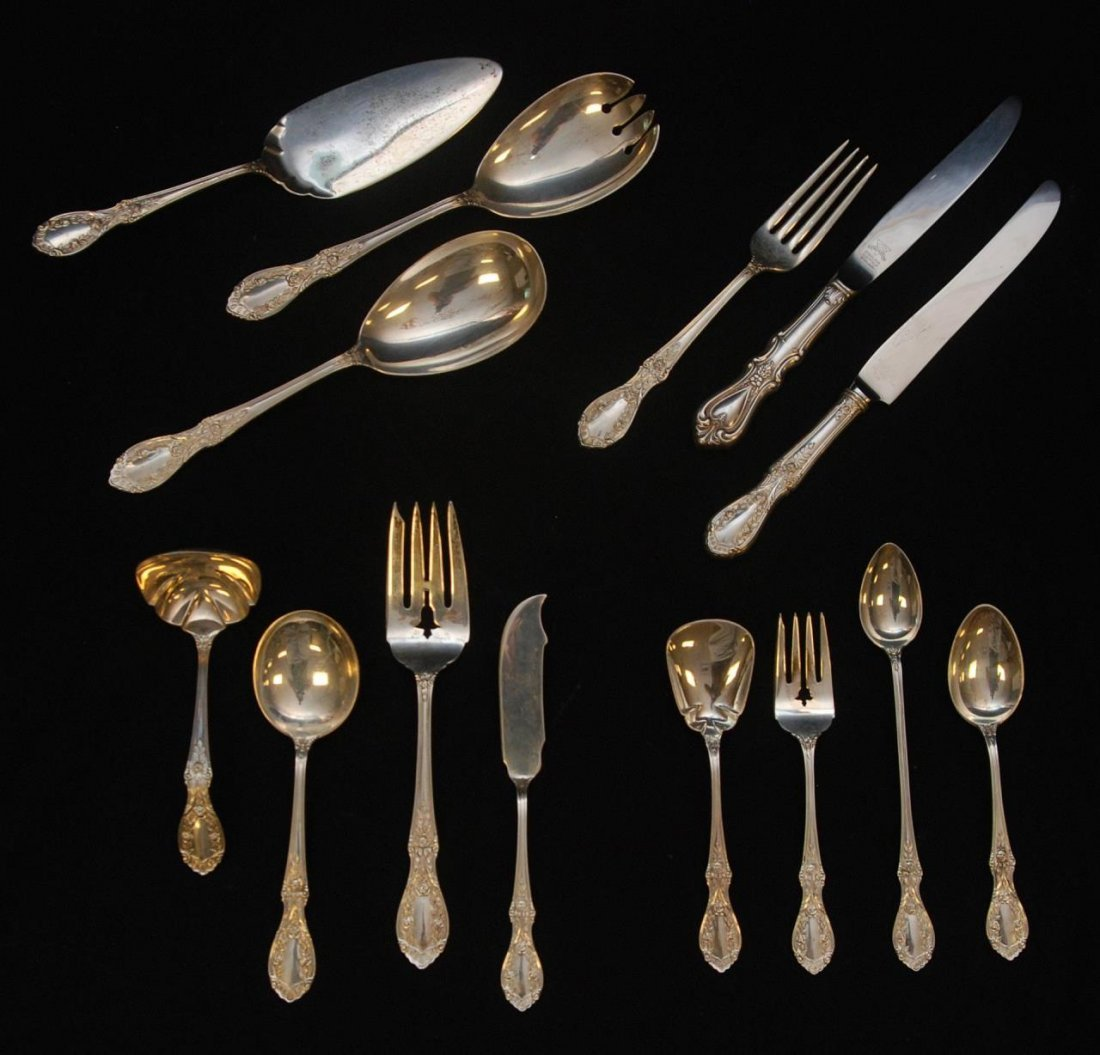 93 PC MANCHESTER STERLING FLATWARE AMERICAN BEAUTY