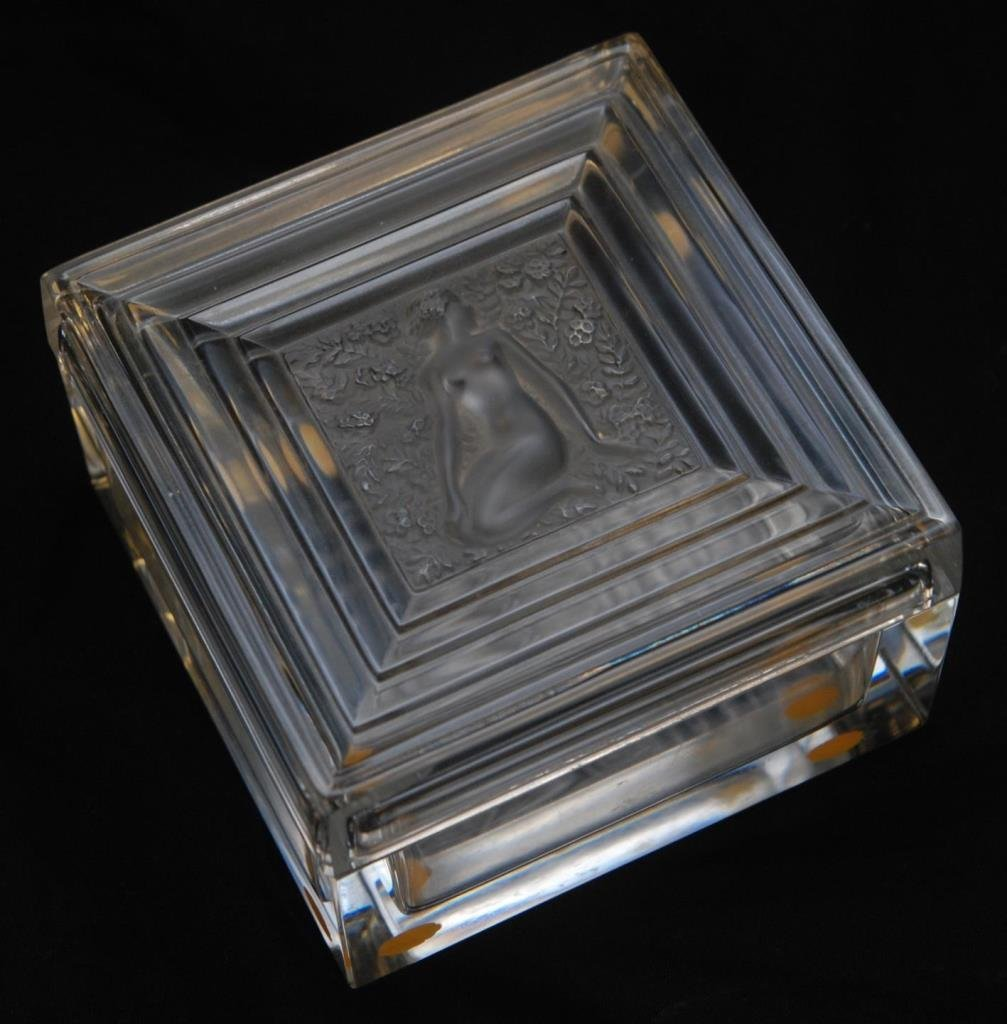 LALIQUE FRANCE DUNCAN NUDE CRYSTAL BOX 11383