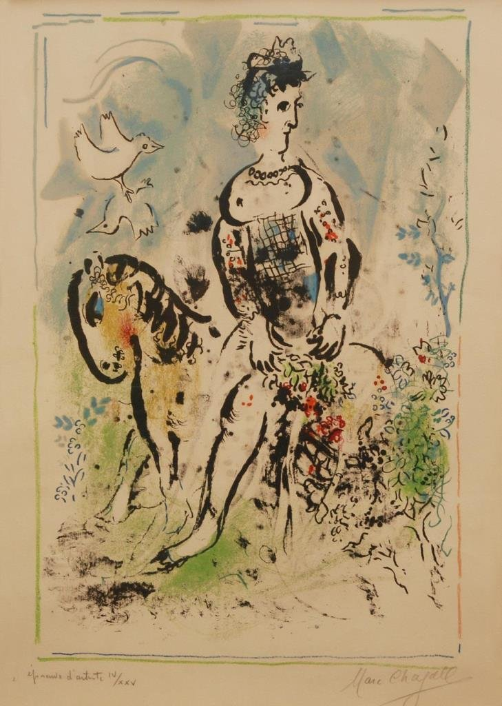 MARC CHAGALL ARTIST PROOF LITHO 'PIERROT LUNAIRE'