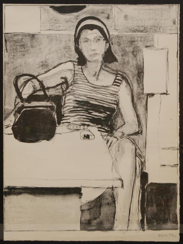 R. DIEBENKORN PENCIL SIGNED LITHOGRAPH