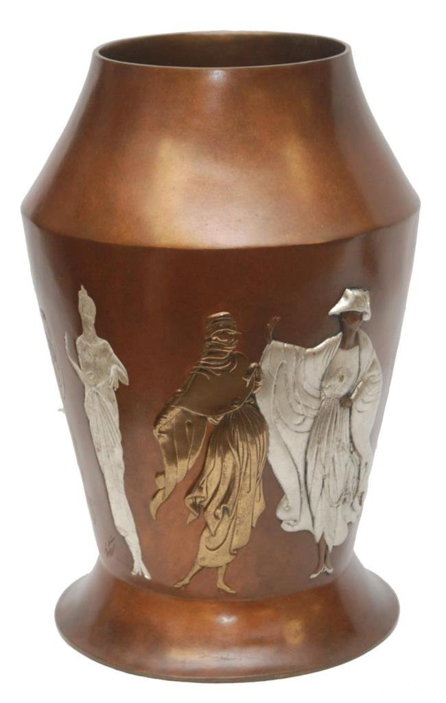 "ERTE BRONZE LIMITED EDITION ""CELEBRATION"" VASE"