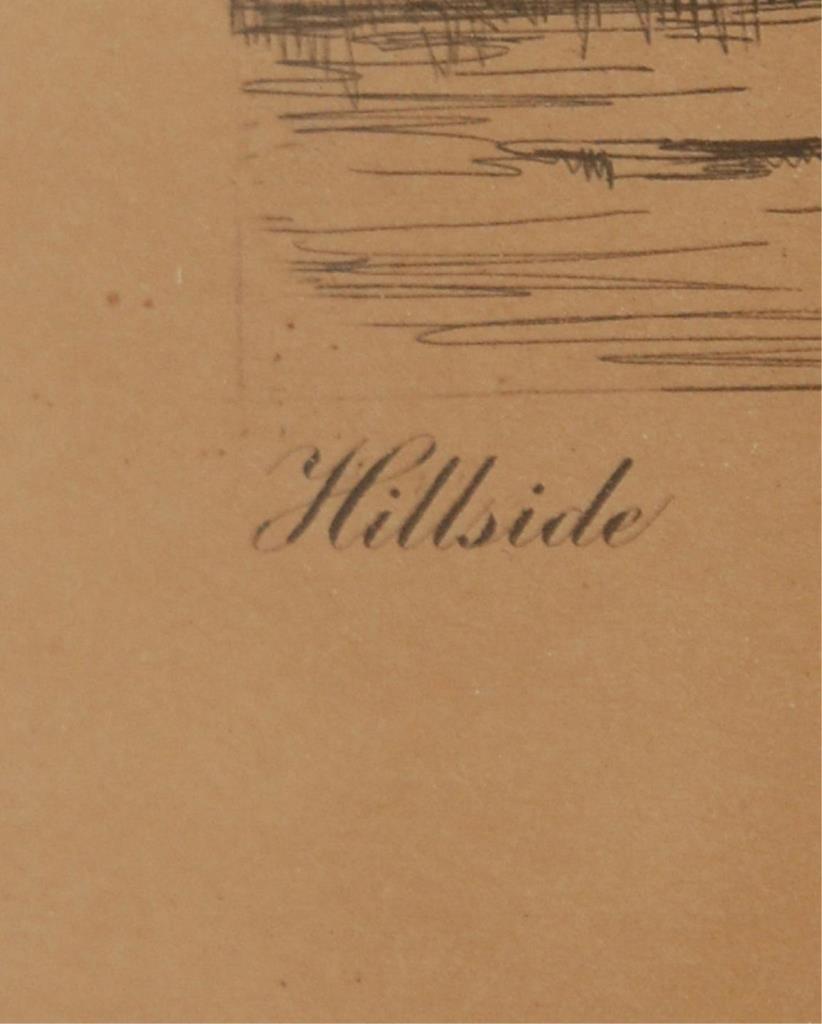 "ANTQUE DRY ETCHING NAN LINDAHL ""HILLSIDE"" - 4"