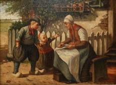 HENDRICUS JACOBUS BURGERS (1834-1899) OIL PAINTING
