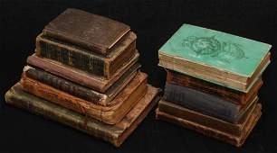 LOT OF ELEVEN ANTIQUE RELIGIOUS BOOKS