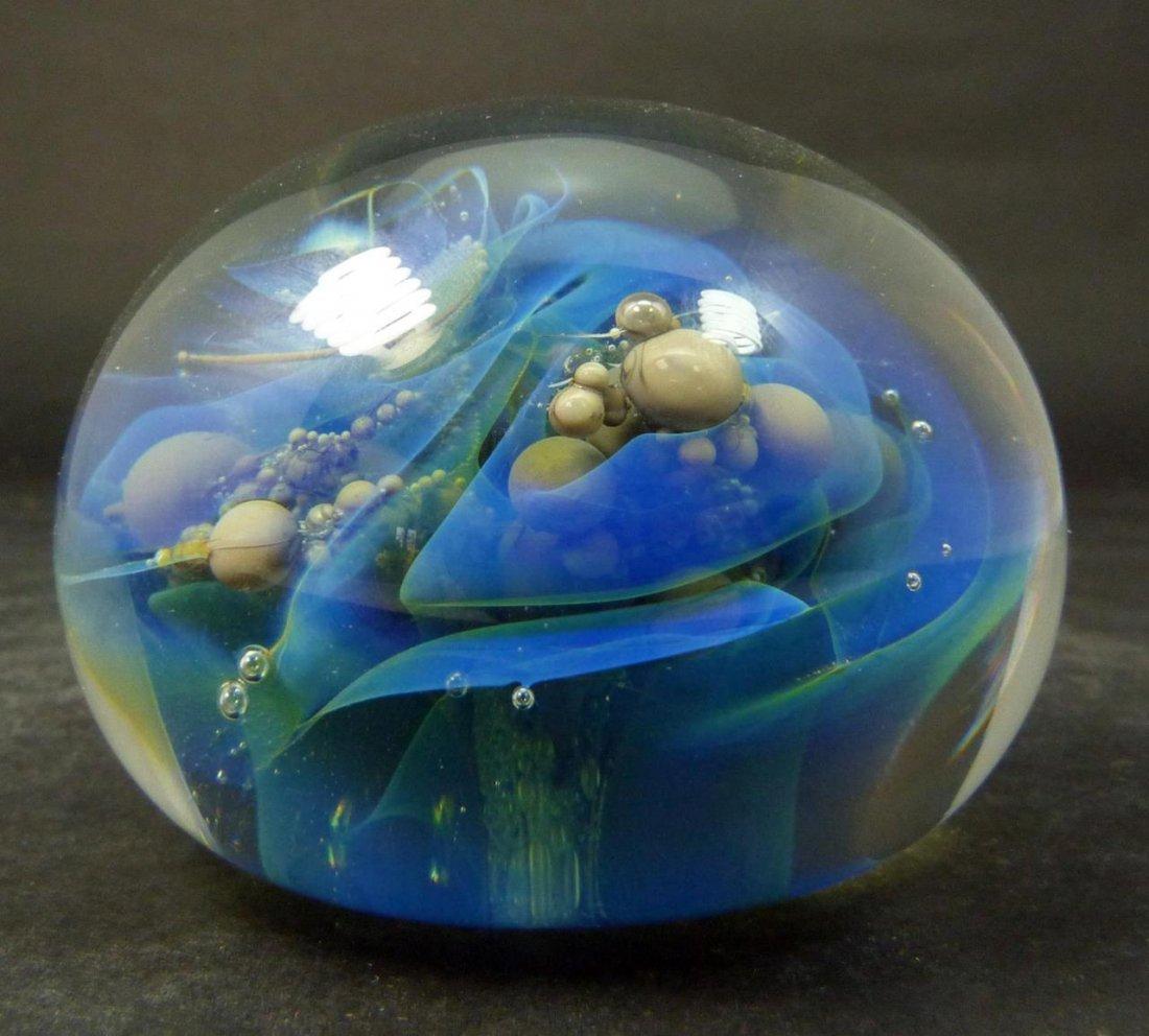 SEEGERS & FEIN GLASS 'OCEAN BUBBLES' PAPERWEIGHT - 2