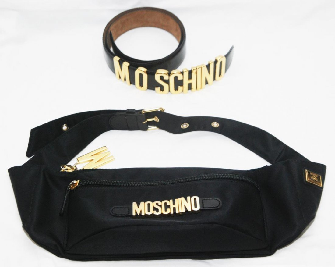 MOSCHINO FASHION ITEMS: FANNY PACK AND BELT