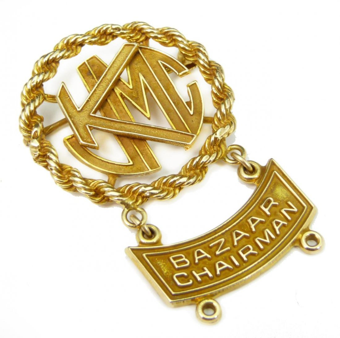 14K YG JEWISH MEDICAL CENTER BAZAAR CHAIRMAN PIN
