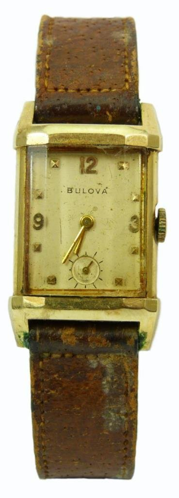 ANTIQUE BULOVA 14KT YELLOW GOLD MEN'S WATCH