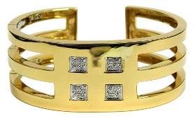TIFFANY  CO 18K YELLOW GOLD DIAMOND BANGLE