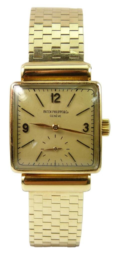 14K YG PATEK PHILIPPE & CO GENT'S WRISTWATCH