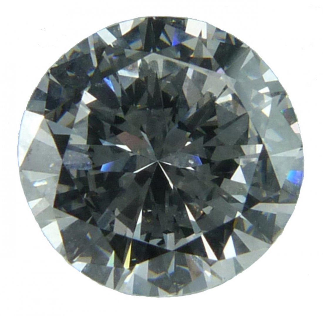 2.91CT E VS2 ROUND BRILLIANT CUT DIAMOND GIA CERT