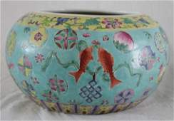 OLD CHINESE FAMILLE ROSE PORCELAIN PLANTER