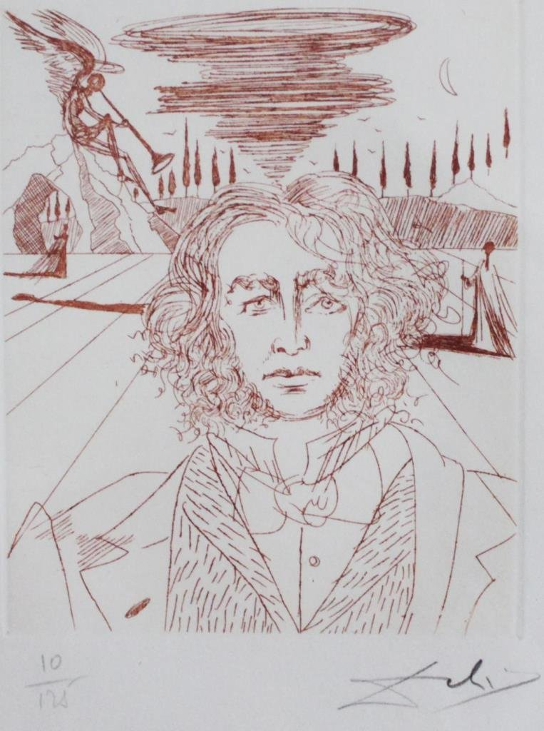 SALVADOR DALI ETCHING OF BEETHOVEN 10/125