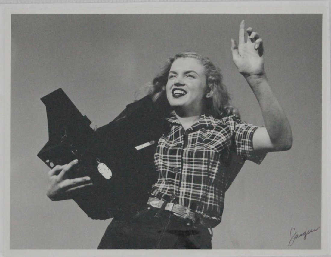 JASGUR PHOTO 1st SHOOT OF NORMA JEAN, SIGNED
