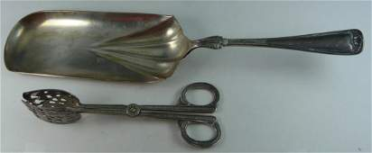 2 OLD SILVER PLATED SERVING ITEMS GORHAM SWEDISH