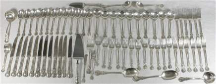 71pc TOWLE OLD MASTER STERLING FLATWARE SET
