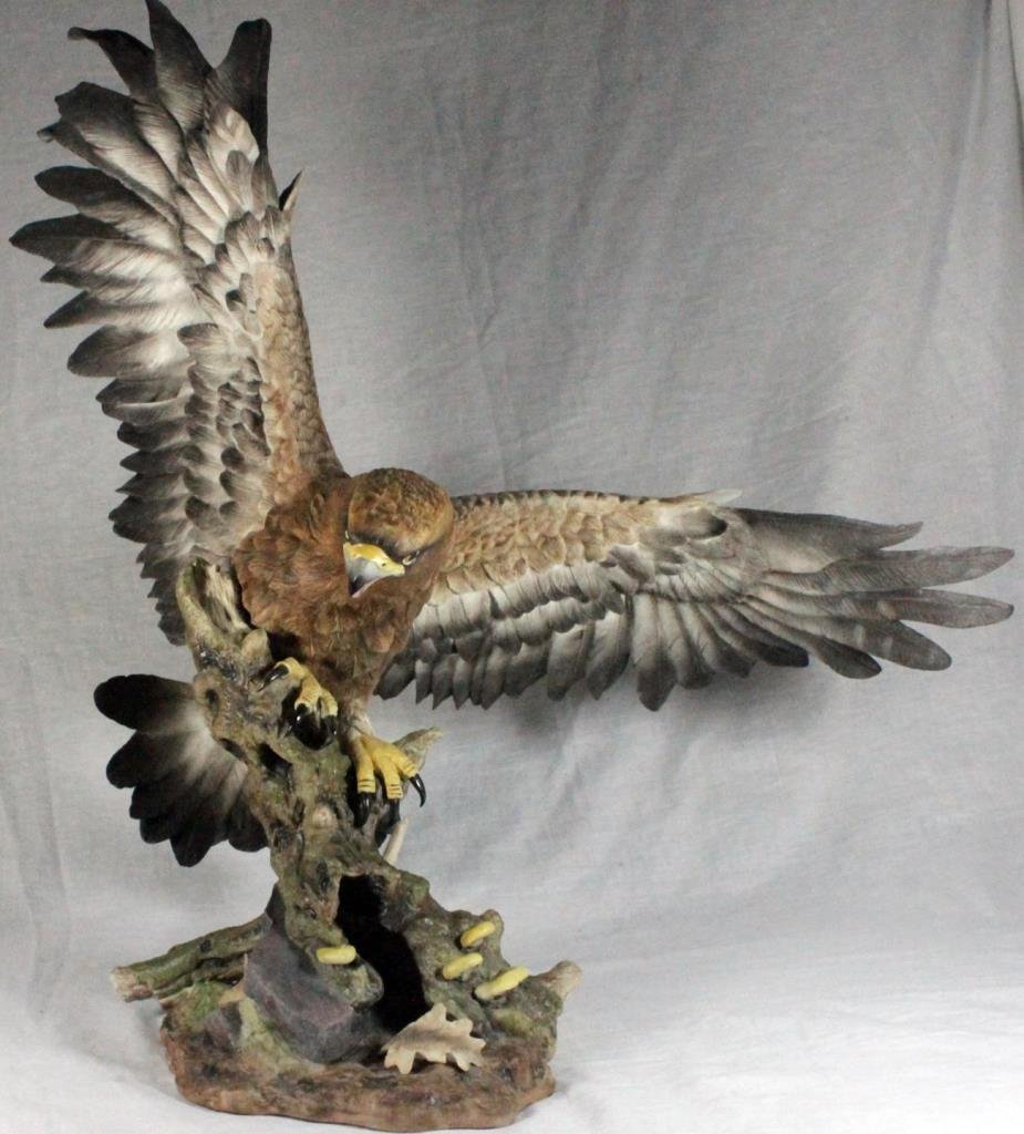 LARGE BOEHM 'GOLDEN EAGLE' PORCELAIN FIGURE 10189