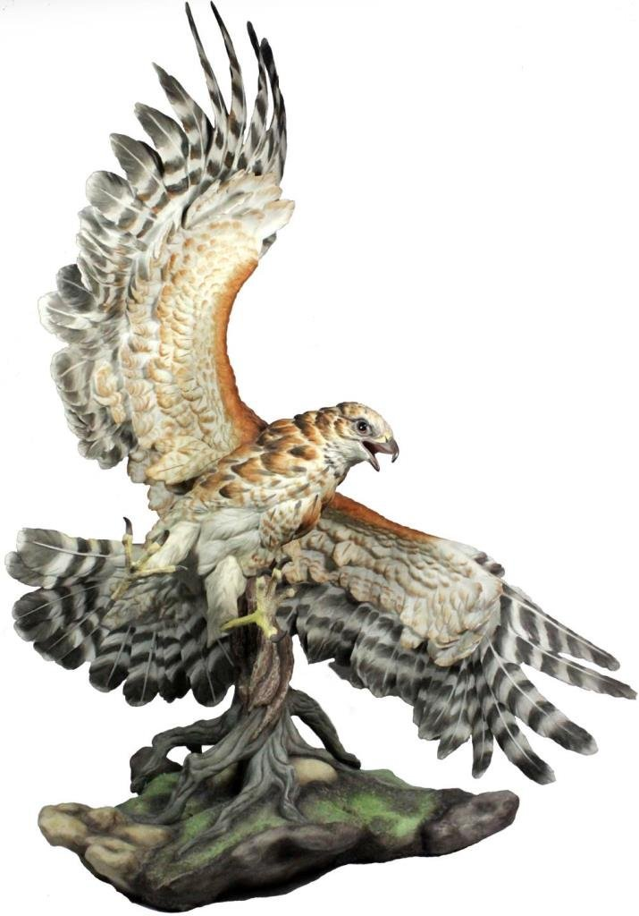 BOEHM PORCELAIN RED SHOULDERED HAWK 40251